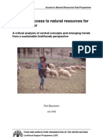 Improving Access to Natural Resources for the Rural Poor - A