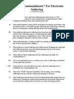 The Ten Commandments of Soldering