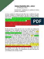 AZ Candidate Eligibility Bill - 2012