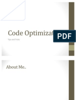 Code Optimization Techniques - Tips and Tricks
