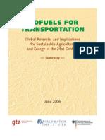 Biofuel for Transportation Summary