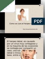 Como curar el herpes labial