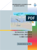 Technologies, Policies and Measures for Mitigating Climate Change - Spanish