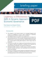 Legitimacy vs Effectiveness for the g20