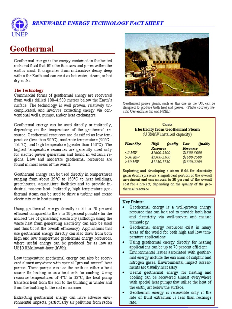 Geothermal | Geothermal Energy | Environmental Technology