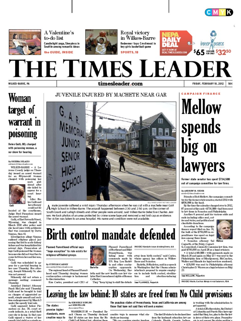 Times Leader 02-10-2012 | Wilkes Barre | No Child Left Behind Act on