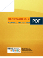 Renewable Energy Global Status Report