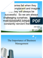MY PPT @BECDOMS on Importance of Business Management