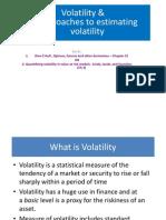 Volatility, SD and EWMA