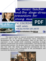 Psicologia Dinamica 2009 the Music Teacher in Stress Prevention