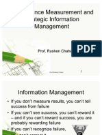 Performance Measurement and Strategic Information Management