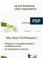 Building and Sustaining Total Quality Organizations