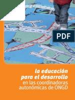 LA EDUCACIÓN PARA EL DESARROLLO EN LAS COORDINADORAS AUTONÓMICAS DE ONGD. ELISABET PADIAL GARCIA. COORDINADORA ESTATAL ONGD