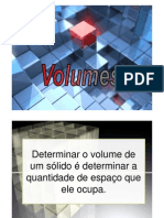 Volume de Solidos Paralelepipedo