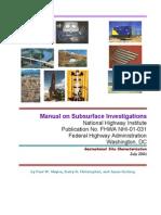 FHWA NHI-01-031 (2002) Subsurface Investigations
