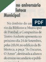 Teatro no aniversario da Biblioteca Municipal