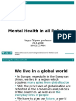Mental health in all policies