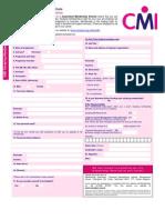 CMI GMS Student Registration Form