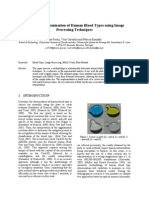 Automatic Determination of Human Blood Types Using Image Processing Techniques