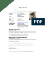 Rkl Um 2010 Curriculum Vitae