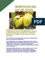 Los Beneficios Del Agua de Coco