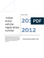 Indian Motor Vehicle Registration Number