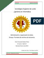 Formatos de Archivos de Secuencias.