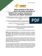 NdP - UNEF - La fotovoltaica asumirá el 44% de la actual moratoria