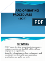 Standard Operating Procedures[1]