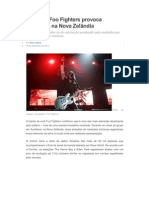 Foo Fighters provoca terremoto na Nova Zelândia