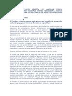 Compartimos Carta Abierta de Malucha Pinto por Fondart y Politicas Culturales