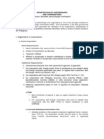 Registration of Partnerships and Corporations