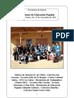 Documento de Síntesis - Encuentro Educación Popular (Punta de Tralca, Noviembre de 2011)