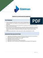 Edelman Chicago 5-5-5 Community Grant Application