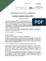 Annuario Statistico Italiano 2011 - 16_dic_2011 - Testo Integrale