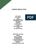 Unsettled Nature God