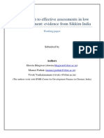 An Approach to effective assessments in low data environment - Evidence from Sikkim India