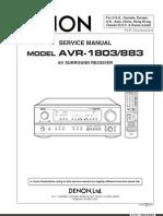 Service Manual Avr 1803
