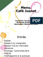 Menu Café Jusnet