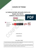 Análisis y Recomendaciones de la Cadena de Valor de Sacha Inchi en San Martín