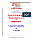 DBA Course Outline