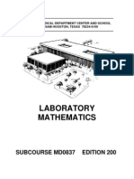 US Army Medical Course MD0837-200 - Laboratory Mathematics