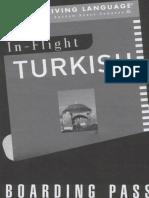 In Flight Turkish Booklet
