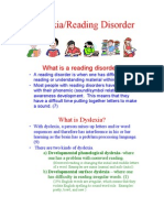 Dyslexia Reading Disorder