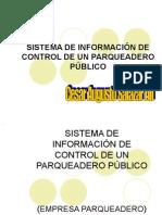 Sistema de InformaciÓn de Control de Un Parqueadero