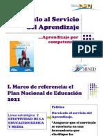 1. Currículo al servicio del Aprendizaje 29 de agosto