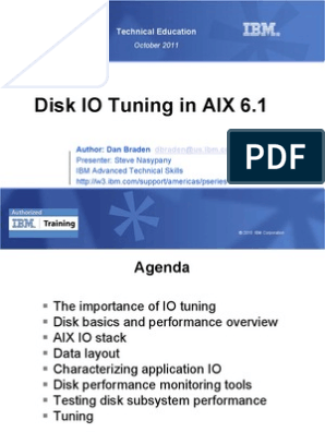 AIX Disk IO Tuning 093011 | Solid State Drive | File System