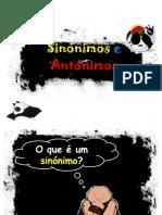 sinónimos e antónimos