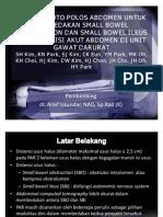 Akurasi Foto Polos Abdomen Untuk Membedakan Small Bowel Obstruction Dan Small Bowel Ileus Pada Kondisi Akut Abdomen Di Unit Gawat Darurat
