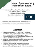 D.B. Sinars et al- Time-resolved Spectroscopy of X-pinch Bright Spots